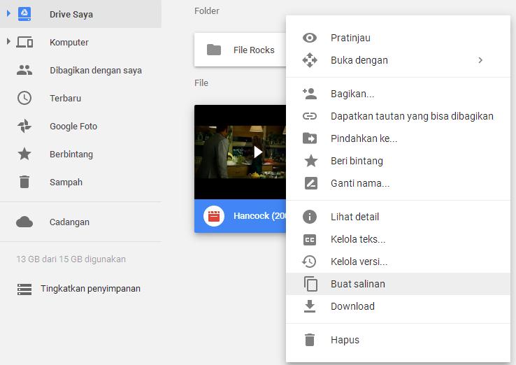 buat salinan google drive